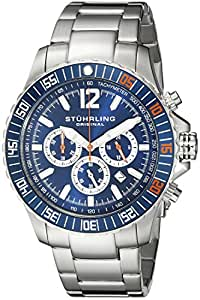 Stuhrling Original Men's 868.02 Octane Torricelli Quartz Chronograph Diver Stainless Steel Watch