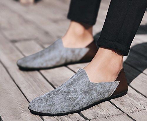 estate uomo 43 da fondo Set 38 da XIE morbido primavera uomo Scarpe casual scarpe piedi scarpe basse gray 6IwxBHqaAx