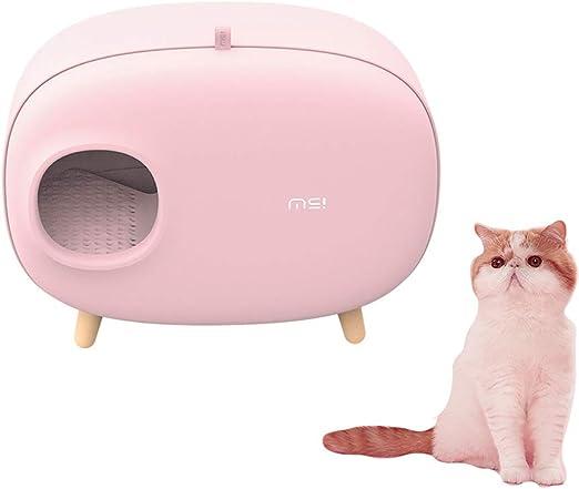 UniqueFit Caja de Arena para Gatos, diseño Cerrado Caja de Arena ...