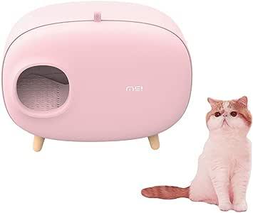 UniqueFit Caja de Arena para Gatos, diseño Cerrado Caja de Arena para Gatos Cuchara de Arena para Gatos Dentro de 14.3 LB, 23.7 * 18 * 15.2 Pulgadas (Pink): Amazon.es: Productos para mascotas