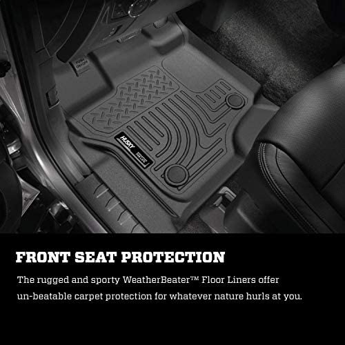 Husky Liners Fits 2015-20 Ford F-150 SuperCrew Weatherbeater Front & 2nd Seat Floor Mats 9