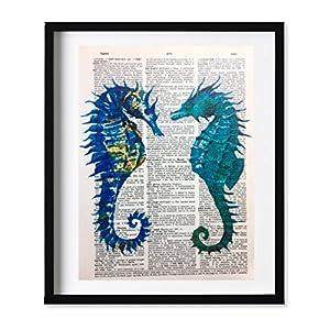 51VdkLuuioL._SS300_ Seahorse Wall Art & Seahorse Wall Decor