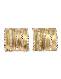 Ratna Traditional Fully Golden Wedding Bangles Set Pair Designer Fancy Gorgeous Bangles Jewellery