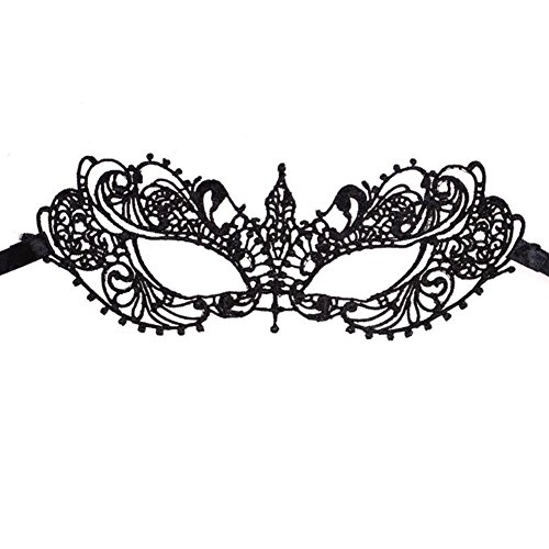 Monbedos Personality Lace Masquerade Mask Makeup Mask Face Eye Mask for Halloween CarnivalParty Mardi Gras Halloween]()