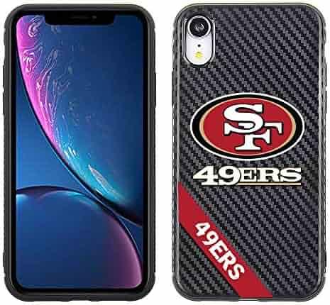 a0e15739b88 Apple iPhone XR - NFL Licensed San Francisco 49ers on Black Carbon Fiber  TPU and PC
