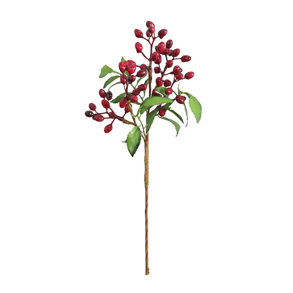 super1798 1Pc Artificial Berries Bonsai Performance Home Garden Wedding Party Decor Props - Red