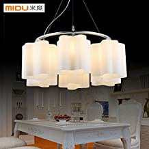 Leihongthebox Modern and minimalist character dining Pendant Light circular dining tables lighting clouds light master bedroom room lamps and welcoming, the creative 400mm/600mm*250mm diameter, 3 head - no light source
