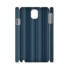 3D Samsung Galaxy Note 3 Case,Blue Vertical Lines Pattern Hard Shell Back Case for White Samsung Galaxy Note 3