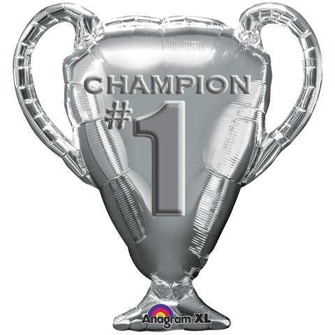 Champion Silver Trophy Cup Supershape 29 inch Mylar Balloon by ()