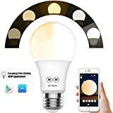 Magic Hue Bluetooth_Mesh Smart Light Bulb, No Hub Required, Tunable Kelvin 2700k-6500k 110-220v A19 E27 App Controlled Smart Light (Hub Required to Enable Remotely Control, Hub Sold Separately)