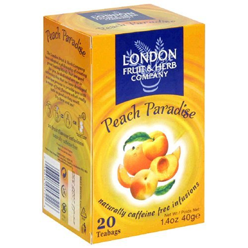 Fruit Herbal - London Fruit & Herb Company Peach Paradise Tea, 20 Count