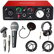 Focusrite Scarlett Solo USB Audio Interface (2nd Gen) With Pro Tools + Free Microphone, Headphones, 2 XLR Cabl