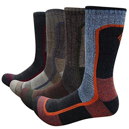 ure Wicking Active Performance Socks (4 Pack) (Brown/Khaki/Grey/Black) ()
