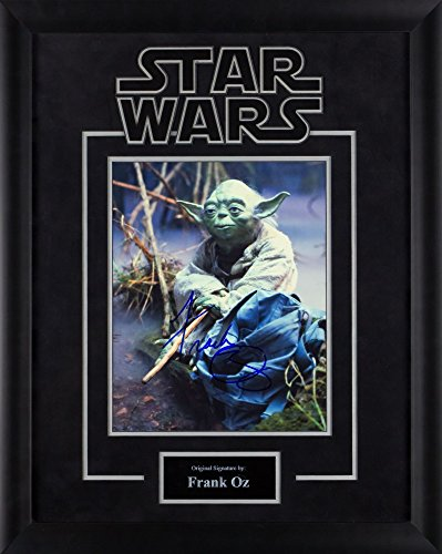 Yoda Signed - Star Wars - Yoda Signed by Frank Oz Movie Photo in Framed Case