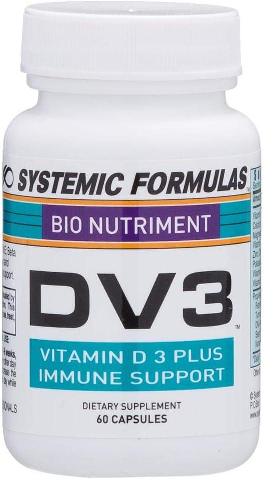 Systemic Formulas DV3 BioNutriment Vitamin D3 Plus Immune Support