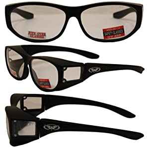 Amazon.com: Escort Over Glasses Clear Lens Safety Glasses