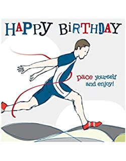 Male Runner Birthday Card By Molly Mae YS05