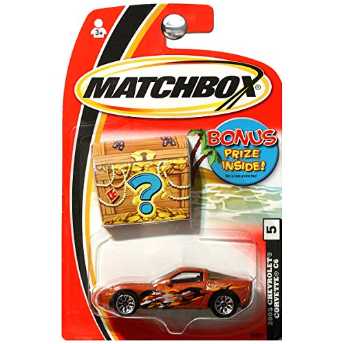 Matchbox Treasure 2005 Chevy Chevrolet Corvette C6 Copper Orange #5