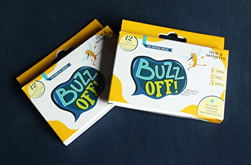 Buzz Off! Mosquito Repellent Patch DOUBLE Pack (Cartoon Design/40 PATCHES)