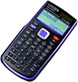 Citizen SR-270XPU College - Calculadora (bolsillo, Batería/Solar, Scientific calculator, Negro, Púrpura, CR2032)