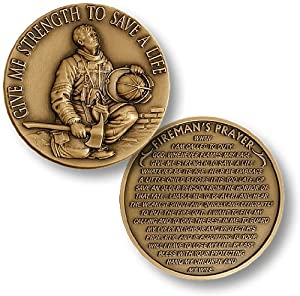 Firefighter in Prayer Challenge Coin by Northwest Territorial Mint