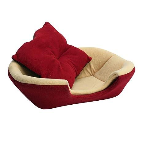 JEELINBORE Suave Cálido Casa de Perro Cama para Mascotas Bolsa de Dormir Gato Nido Cojín Cueva