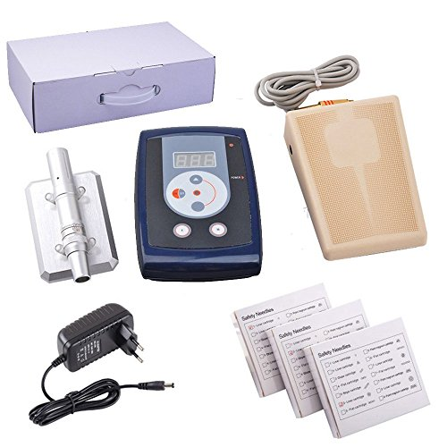 Price comparison product image HoriKing Tattoo Supply Complete Tattoo Machine Kits X5 Permanent Makeup Eyebrow Lips Set Minimally Invasive Plastic Surgery Kit with LCD Digital Power Supply Liner Shader Supply Silver