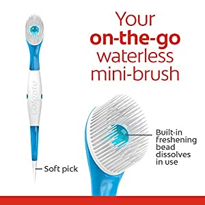 Colgate Max Fresh Wisp Disposable Mini Toothbrush, Peppermint – 24 Count