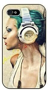 Surelock iPhone 5 / 5s Music art - black plastic case, hot girl, girls