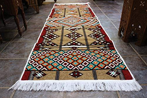 Elessar 65 x 200 cm,2'1″ x 6'5″, Kilim, Oriental Rug, Runner, Oriental Room Decoration, Flooring Living Room Hallway, Gift, Birthday Wedding, Flat, Tapestry RS ()