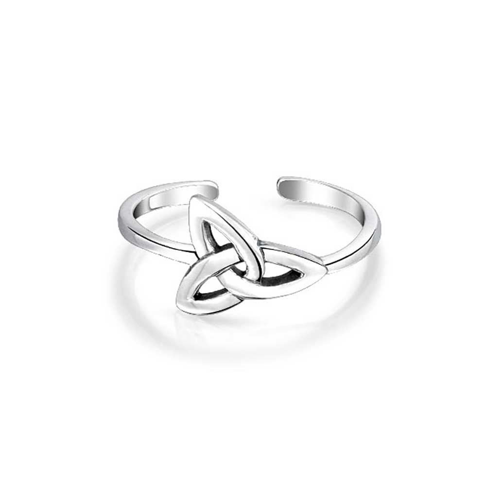 Bling Jewelry Triquetra Celtic Knot Midi Ring Sterling Silver Toe Rings PMR-R11583