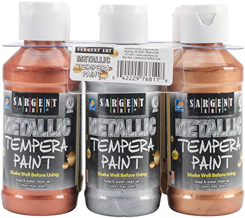 Sargent Art 17-6811 6 Pack 4oz Metallic Tempera Paint Set from Sargent Art