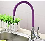 AWXJX Kitchen Bathroom Hot And Cold Washbasin Single Hole Single Handle Blender Purple Copper Sink Taps