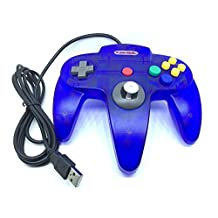 Childhood Gamelink Retro Classic USB Controller Gamepad Joysticks for N64 Style PC MAC clear blue