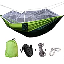 Tresbro Camping Hammock - Easy Hanging Double Hammock with Tree Straps & Carabiners, 440lbs