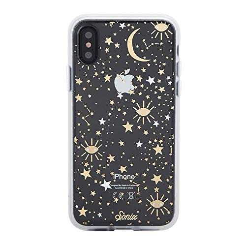 (Sonix Cosmic (Stars, Gold, Silver) Cell Phone Case, Military Drop Test Certified - Sonix Clear Coat Series for Apple iPhone X, iPhone Xs)