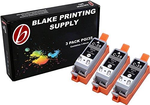 3 Pack Compatible Canon PGI-35 3 Black for use with Canon PIXMA iP100l, PIXMA mini260, PIXMA mini320, RFB IP100. Ink Cartridges for inkjet printers. PGI-35-BK / 1509B002 © Blake Printing Supply