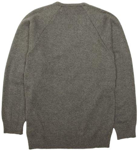 Charles Kirk Coolflow - Jersey de punto con cuello de pico unisex Gris (Medium Grey)