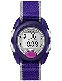 Girls TW2R99100 Time Machines Digital Purple Fabric Strap Watch