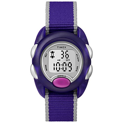 Timex Girls TW2R99100 Time Machines Digital Purple Fabric Strap Watch