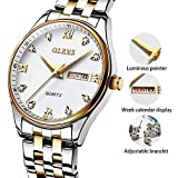 Mens Stainless Steel Rose Gold Watch,Quartz Wrist watch for Men,Day Date Watches for Men,Men's Analog Fashion Watch Silver Dial,Man Watch Roman Numerals Classic Calendar Date,30M Water Resistant