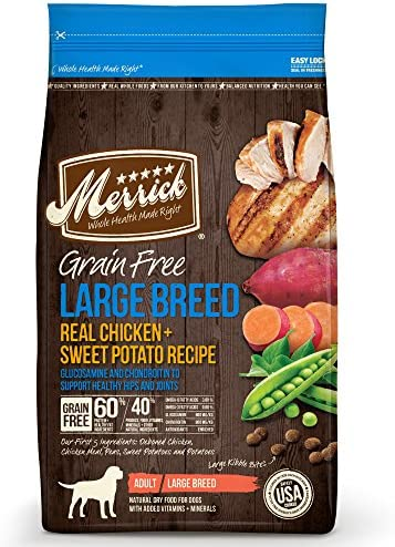 Merrick Grain Free Large Breed Dry Dog Food Recipe