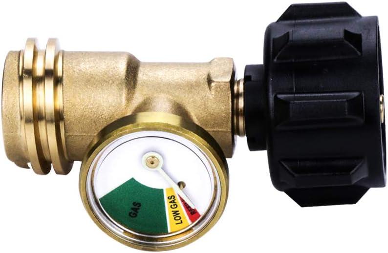 Camplux Propane Tank Gauge/Leak Detector Gas Pressure Meter