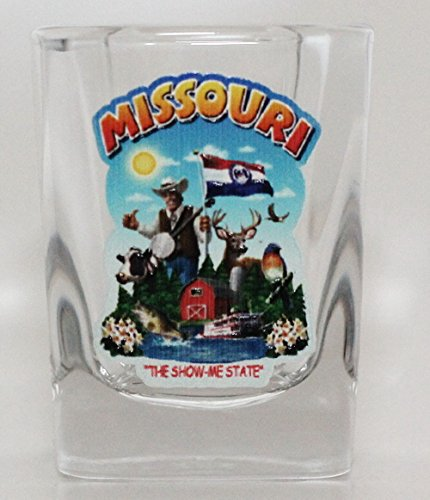 (Missouri State Montage Square Shot Glass)
