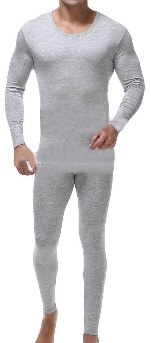 Cruiize Mens Winter Plus Size Modal Long John Soft Thermal Underwear Set