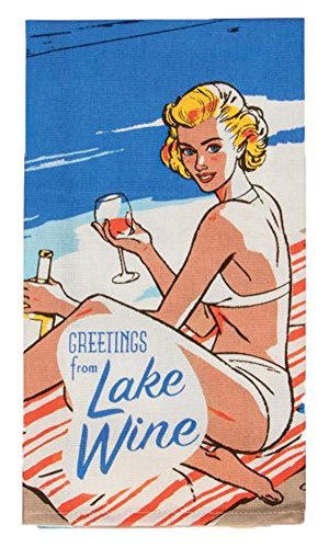 Blue Q Greetings from Lake Wine - Printed Dish Towel by Blue Q (Image #1)