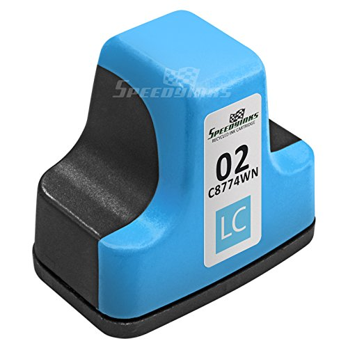Speedy Inks - Remanufactured Replacement for HP 02 C8774WN HP02 Light Cyan Ink Cartridge