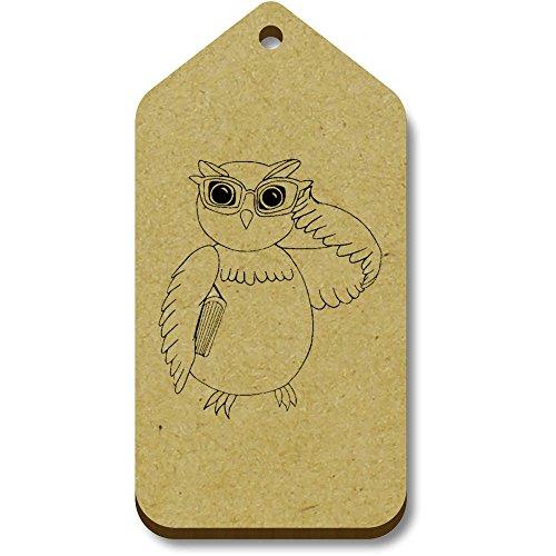 34mm tg00068353 Geschenk bagagelabels 66mm Owl' 10 'Wise Azeeda X xFpRZx