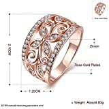 Black Friday Sale 2015 Fashion Retro classic hollow Rose Gold CZ ring with Shamrocks (Size:N1/2(O))