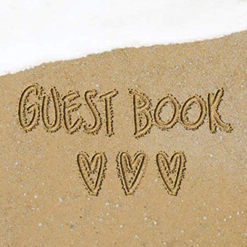 Guest Book: Beach Sign in Book - Surf Heart Sand Memory Book for Beach House, Wedding, Baby Shower, Birthday Party, Vacation Rental or Event with ... Comments in and Lines - Beach Wedding Theme Shop